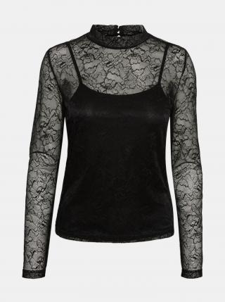 Noisy May černá krajkovaná halenka Lili - XL dámské XL