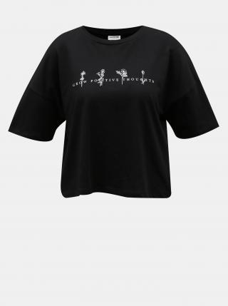 Noisy May černé dámské cropped tričko s potiskem - L dámské černá L