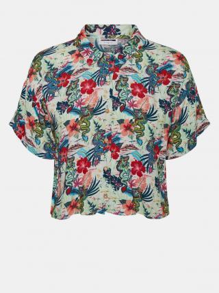 Noisy May modrá květovaná košile Chin - S dámské S