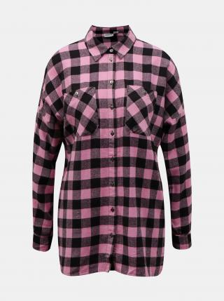 Noisy May růžová kostkovaná košile - XL dámské XL