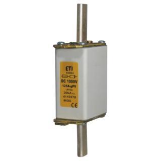 Nožová pojistka ETI NH0 gPV 100A 1000VDC pro fotovoltaické systémy 004110387