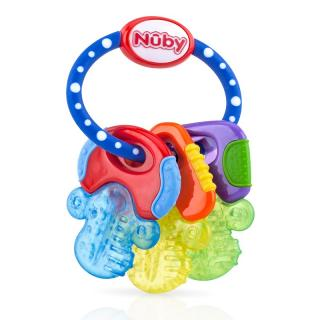 NUBY Kousátko s chladivým gelem klíče 3m  mix barev