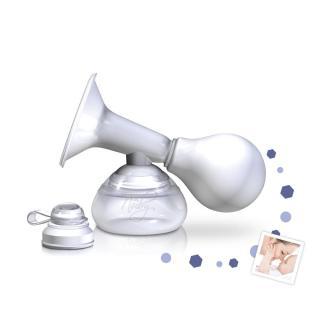 NUBY Odsávačka mateřského mléka manuální s nádobkou 90 ml bílá