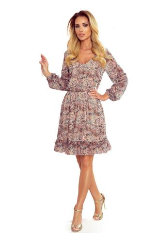 NUMOCO Womans Dress 295-1 Multicolour dámské wzorzysty S