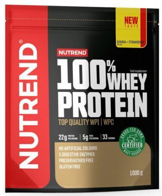 NUTREND 100% Whey Protein 1000 g Banana/Strawberry pánské
