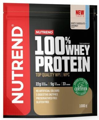 NUTREND 100% Whey Protein 1000 g Bilá Čokoláda/Kokos pánské