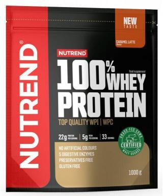 NUTREND 100% Whey Protein 1000 g Caramel Latté pánské
