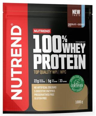 NUTREND 100% Whey Protein 1000 g Chocolate/Coconut pánské