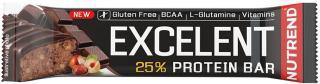 NUTREND Excelent Protein Bar 85 g Čokoláda s Oříšky pánské