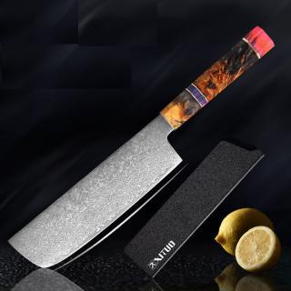 Nůž Nakiri z damascénské oceli