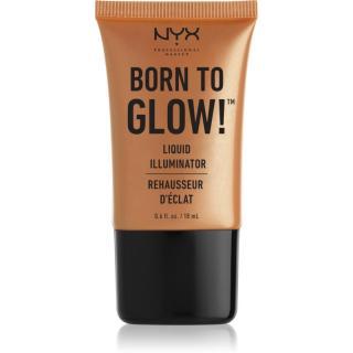 NYX Professional Makeup Born To Glow tekutý rozjasňovač odstín 03 Pure Gold 18 ml dámské 18 ml