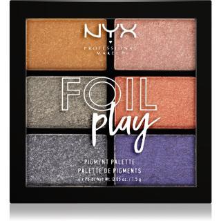 NYX Professional Makeup Foil Play paleta očních stínů odstín 01 Magnetic Pull 6 x 1,5 g dámské 6 x 1,5 g