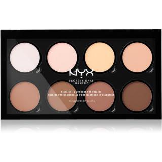 NYX Professional Makeup Highlight & Contour PRO konturovací paletka 8 x 2,7 g dámské 8 x 2,7 g