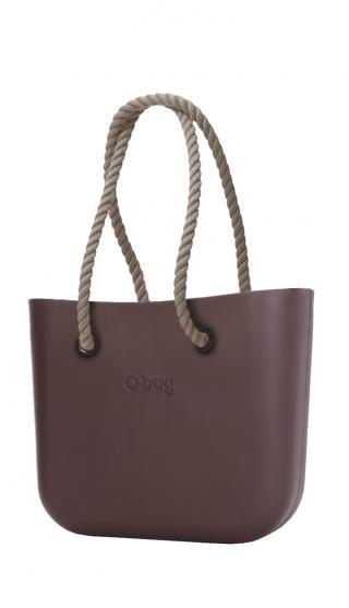 O bag kabelka Chocolate s dlouhými provazy natural dámské hnědá