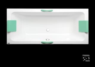 Obdélníková vana Laguna Nora Plus 170x75 cm akrylát NO1700PLUS bílá bílá