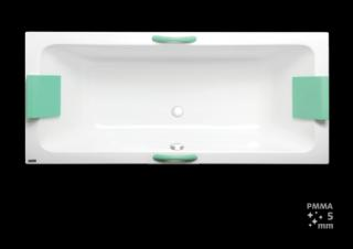 Obdélníková vana Laguna Nora Plus 180x80 cm akrylát NO1800PLUS bílá bílá