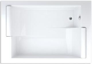 Obdélníková vana Teiko Asteria 195x135 cm akrylát V112195N04T01001 bílá bílá