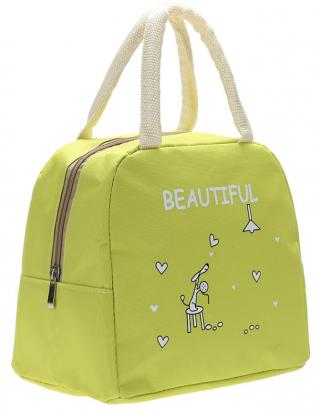 Obědová taška na zip - 4 barvy Barva: zelená