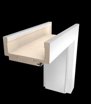 Obložková zárubeň Naturel 60 cm pro tloušťku stěny 12-14 cm pravá O3BM60P bílá matná