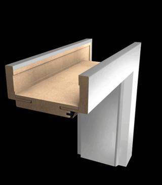 Obložková zárubeň Naturel 80 cm pro tloušťku stěny 7,5-9,5 cm pravá O1BM80P bílá bílá matná