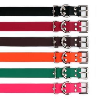 Obojek pro psa E-collar 2,5 x 75 cm - biothan - červená