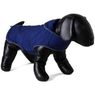 Oboustranný kabát pro psy Doodlebone Tweedie Blue / Turquoise S