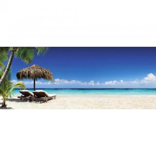 OBRAZ SKLENĚNÝ, pláž & moře, 50/125 cm, - vícebarevná 50/125