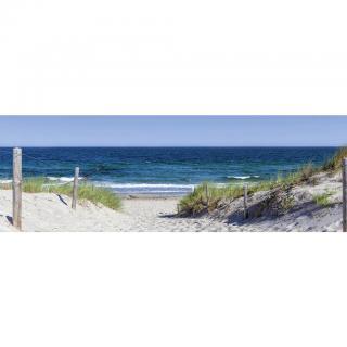 OBRAZ SKLENĚNÝ, pláž & moře, 98/33/1,4 cm - vícebarevná 98/33/1,4
