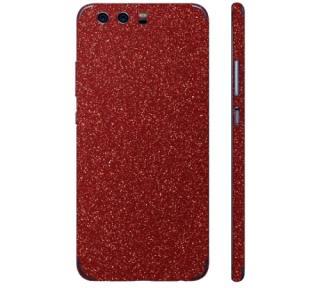 Ochranná fólie 3mk Ferya pro Huawei P9, červená třpytivá