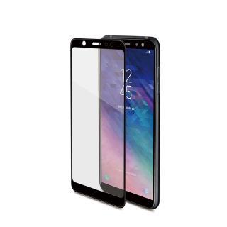 Ochranné tvrzené sklo Celly 3D Glass pro Samsung Galaxy A6 Plus  černé