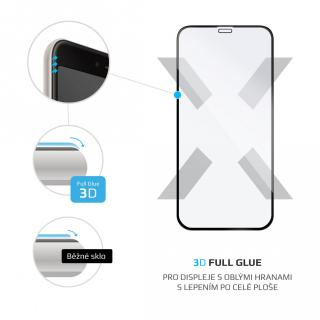 Ochranné tvrzené sklo FIXED 3D Full-Cover pro Apple iPhone 12 mini, černá