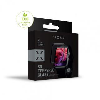 Ochranné tvrzené sklo FIXED 3D Full-Cover s aplikátorem pro Apple Watch 42mm, černá