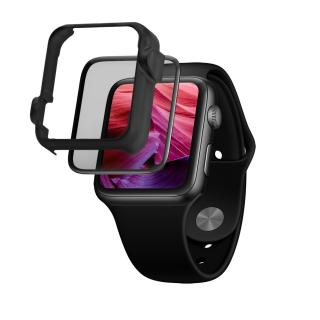 Ochranné tvrzené sklo FIXED 3D Full-Cover s aplikátorem pro Apple Watch 44mm, černá