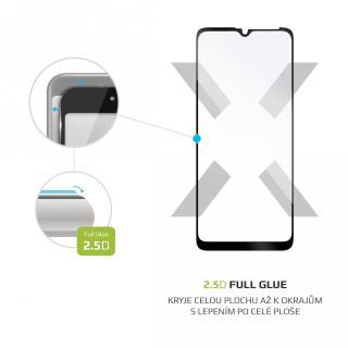 Ochranné tvrzené sklo FIXED Full-Cover pro Motorola Moto G10/G30, černá