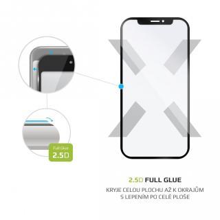 Ochranné tvrzené sklo FIXED Full-Cover pro Samsung Galaxy A12, černá
