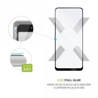 Ochranné tvrzené sklo FIXED Full-Cover pro Xiaomi Redmi Note 10 / Note 10S, černá