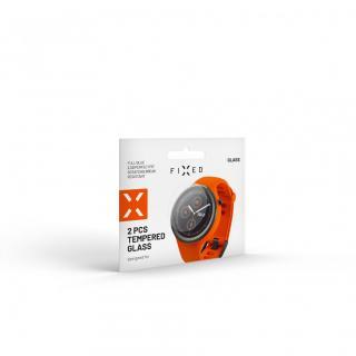Ochranné tvrzené sklo FIXED pro smartwatch Samsung Galaxy Watch 46mm, 2 ks v balení, čirá