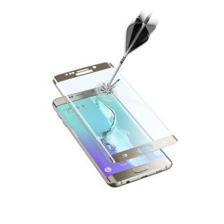 Ochranné tvrzené sklo pro Cellularline Glass pro Samsung Galaxy S6 Edge , zlatá