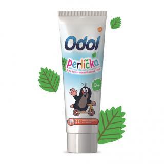 ODOL Perlička nová jemná mátová chuť zubní pasta 50 ml zelená