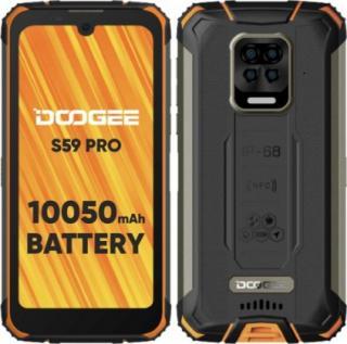Odolný mobilní telefon doogee s59 pro 4gb/128gb, oranžová
