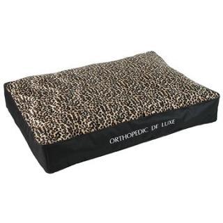 Olala Pets Ortopedická matrace De Luxe 120 x 85 cm , leopard