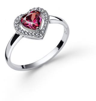Oliver Weber Třpytivý stříbrný prsten se zirkony Swarovski 63245 FUX L  dámské