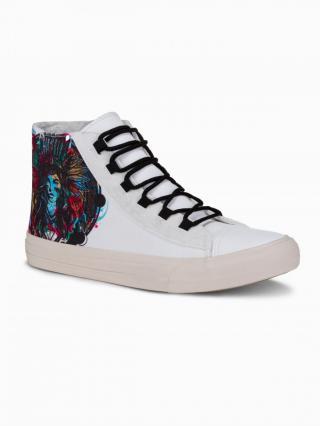 Ombre Clothing Mens ankle shoes T347 pánské White 40