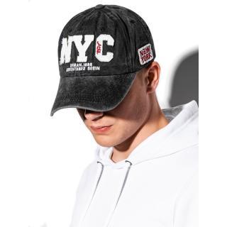 Ombre Clothing Mens cap H062 pánské Black One size