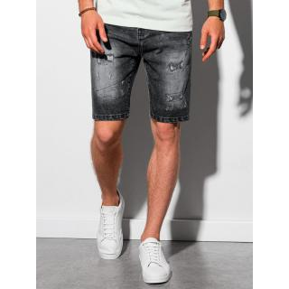 Ombre Clothing Mens denim shorts W306 pánské Black S