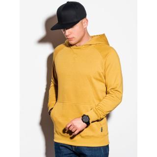 Ombre Clothing Mens hooded sweatshirt B1085 pánské Yellow S