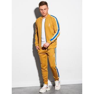 Ombre Clothing Mens set hoodie   pants Z22 pánské Mustard XXL