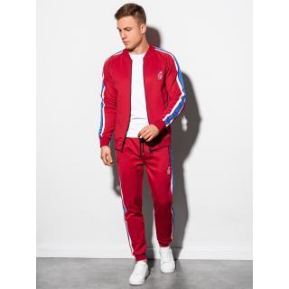 Ombre Clothing Mens set hoodie   pants Z22 pánské Red XXL