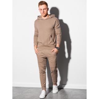 Ombre Clothing Mens set hoodie   pants Z24 pánské Brown XXL