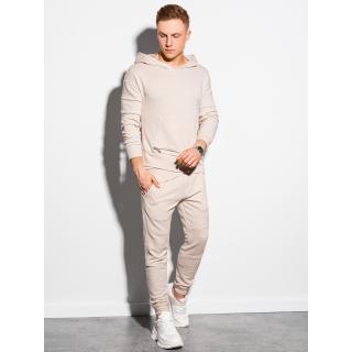 Ombre Clothing Mens set hoodie   pants Z24 pánské White S